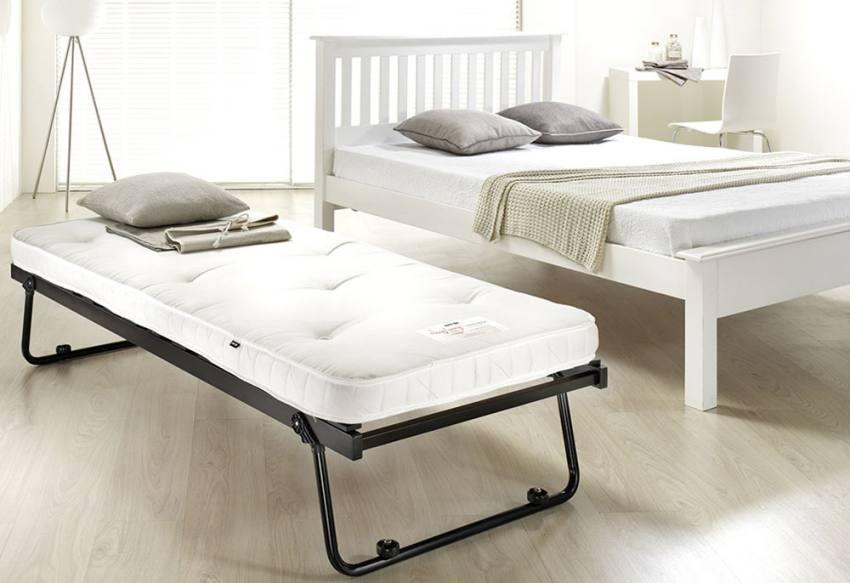 jay be trundle guest bed with pocket sprung mattress. Black Bedroom Furniture Sets. Home Design Ideas