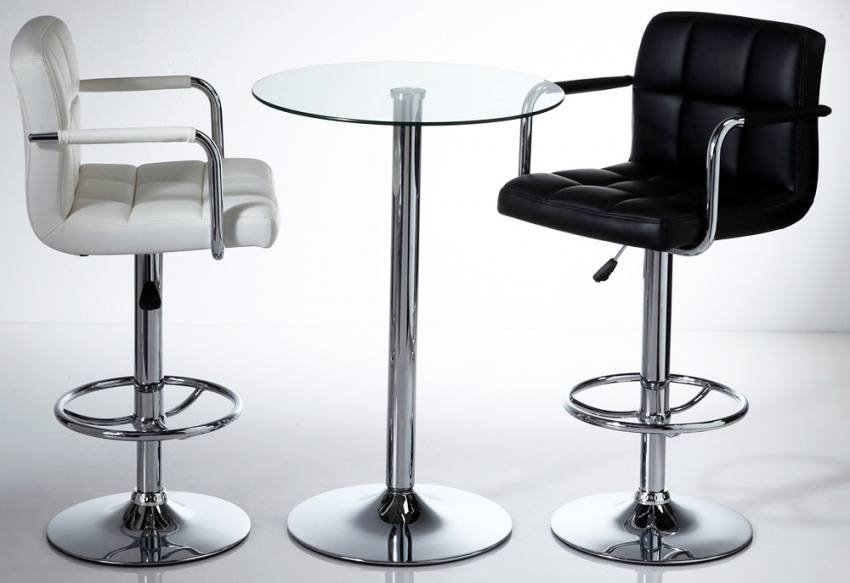 White or Black & Wilkinson Furniture - Miami Bar Stools with Adjustable Gas Lift ... islam-shia.org