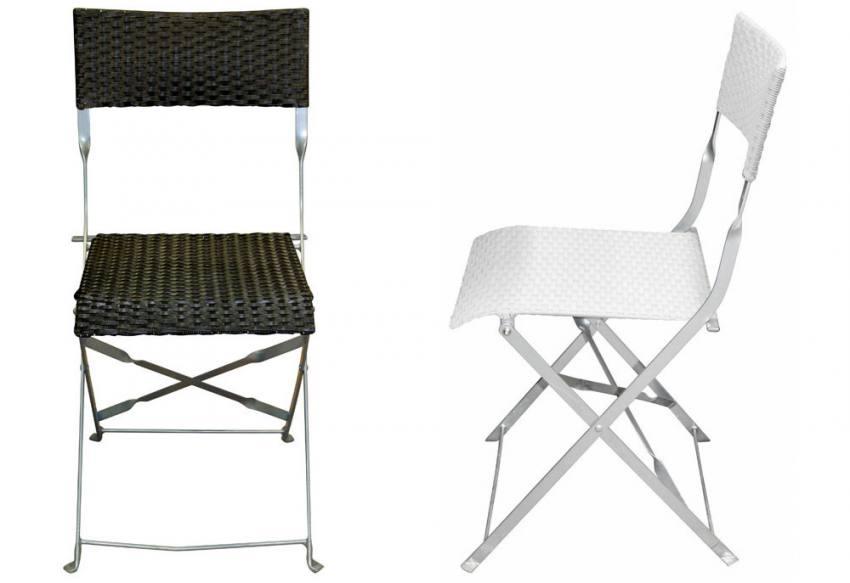 Hnd Hampton Folding Chair Painted Aluminium Steel