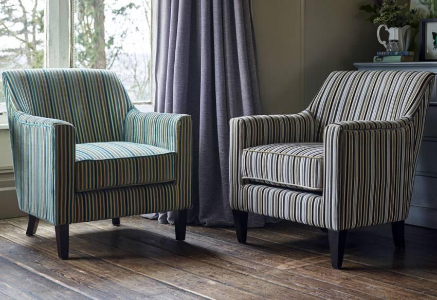 Gfa Bloomsbury Accent Chair Dark Wood Tapered Legs