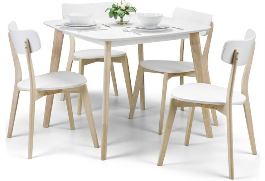 Julian Bowen Casa Dining Set Table Amp 4 Chairs Limed