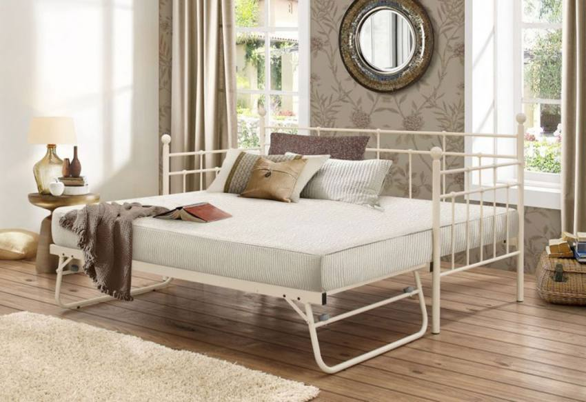 Birlea Furniture Lyon Daybed With Underbed Cream Or