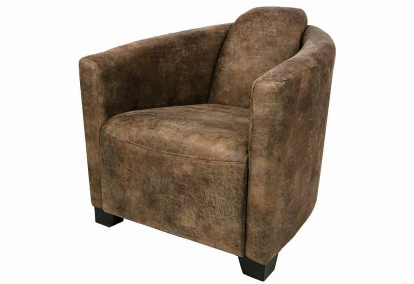 Elegant Bonanza Faux Leather. XYZ   Seattle Tub Chair U0026 Footstool ...