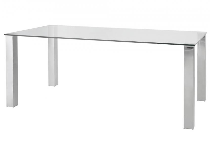 wilkinson furniture mezzi dining table clear glass