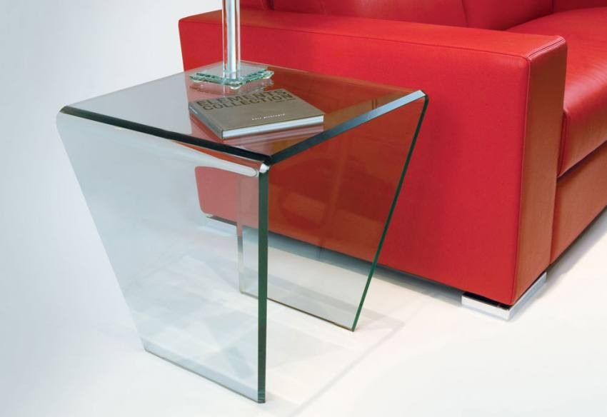 Greenapple - Curvo Glass Occasional Table Product Image
