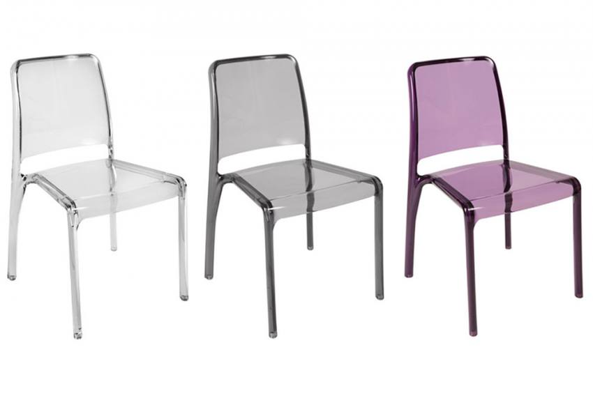 Teknik Office Clarity Translucent Plastic Chairs Office Dining