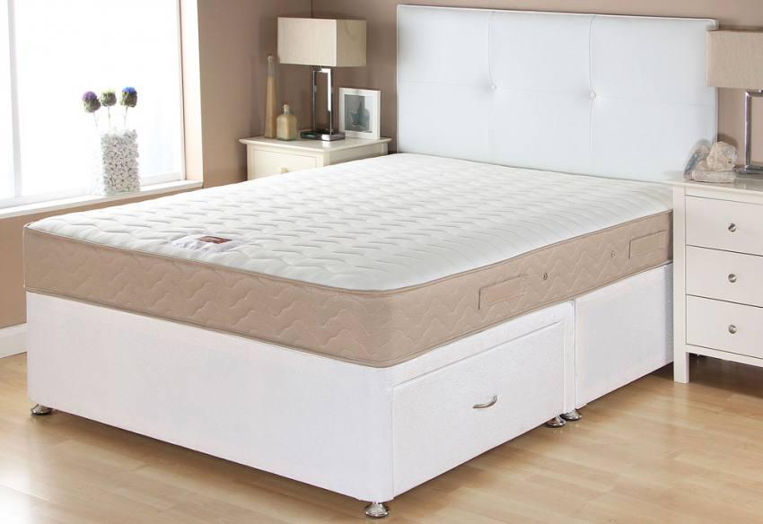 Airsprung beds catalina memory divan beds single for Divan base cover
