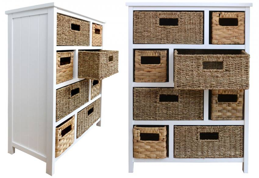 Statement Furniture - Tetbury White Storage Cabinets with 5, 6 or ...