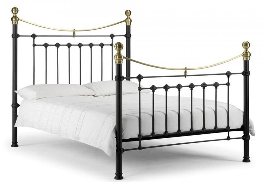 Julian Bowen Victoria Metal Bed Frames Stone White Or