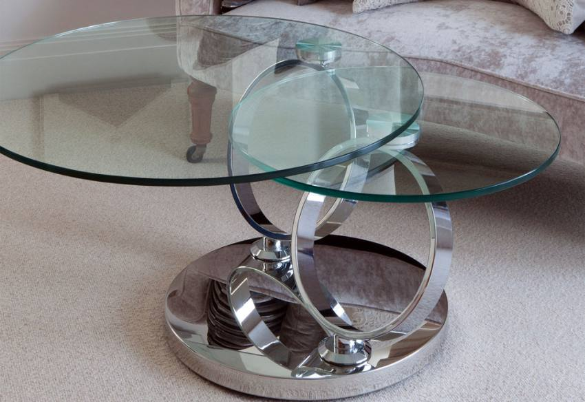 Greenapple furniture magic coffee table lamp table - Glass side tables for living room uk ...
