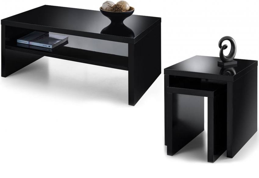 Julian Bowen Metro Occasional Tables High Gloss Black Or White Coffee Table Or