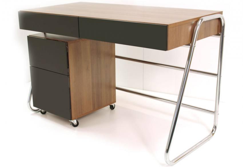Alphason Juo Walnut Designer Desk Chrome Tube Frame  : 850x5841442855985JuoDeskPedestal from www.sofaandhome.co.uk size 850 x 584 jpeg 29kB