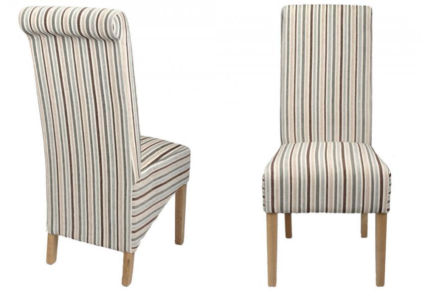 Shankar Krista Dining Chairs Natural Oak Legs Chenille. Array Dining Room  4122 1416428993 1200 Striped Chairs