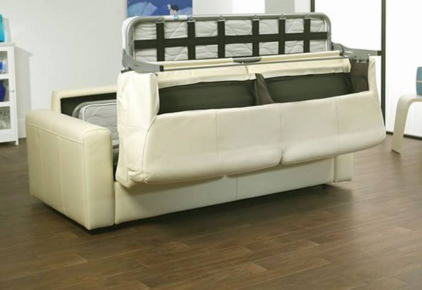 Roll Out Action. ICD   Genoa Leather Sofa Bed ...