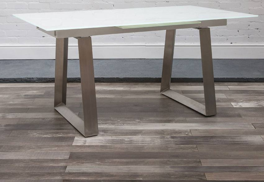 HND - Ancona Extending Glass Dining Table Product Image