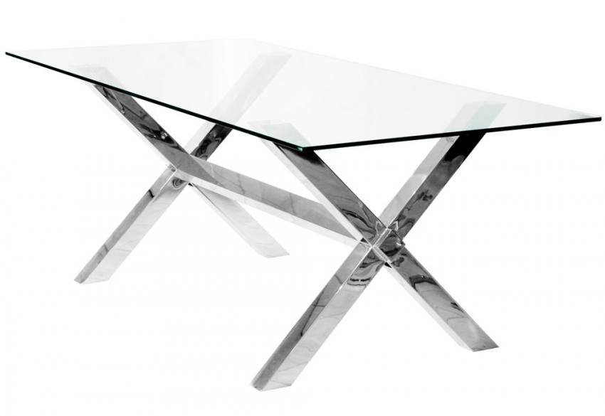 Febland Crossly Rectangular Glass Dining Table