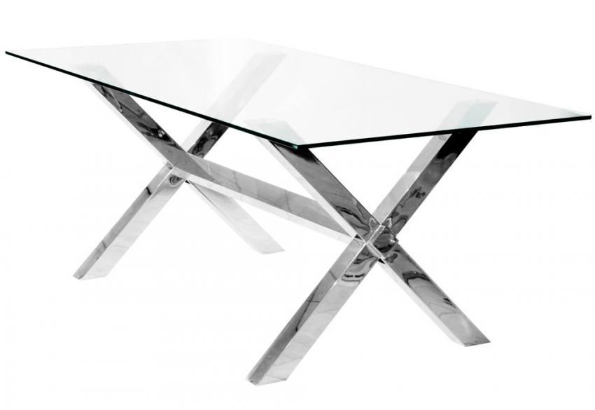 Febland Crossly Rectangular Glass Dining Table  : 850x5851378401964RectangularDTable from www.sofaandhome.co.uk size 850 x 585 jpeg 24kB