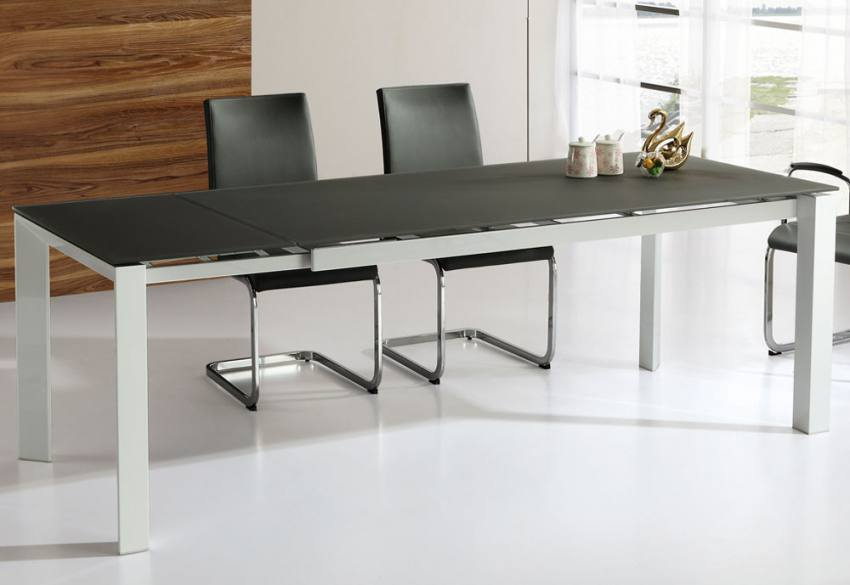 Wilkinson Furniture Mobo Glass Extending Dining Table Small Medium And L