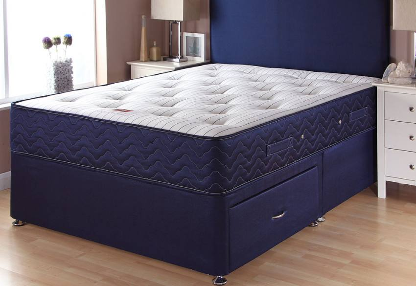 Airsprung beds catalina pocket 1000 divan beds single for Double divan base and mattress