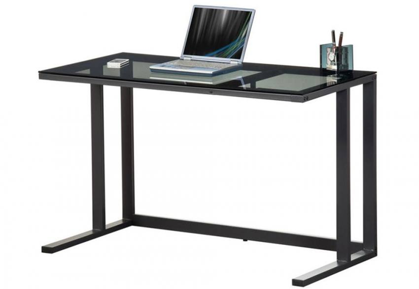 Alphason Air Desk Computer Workstation Black Metal