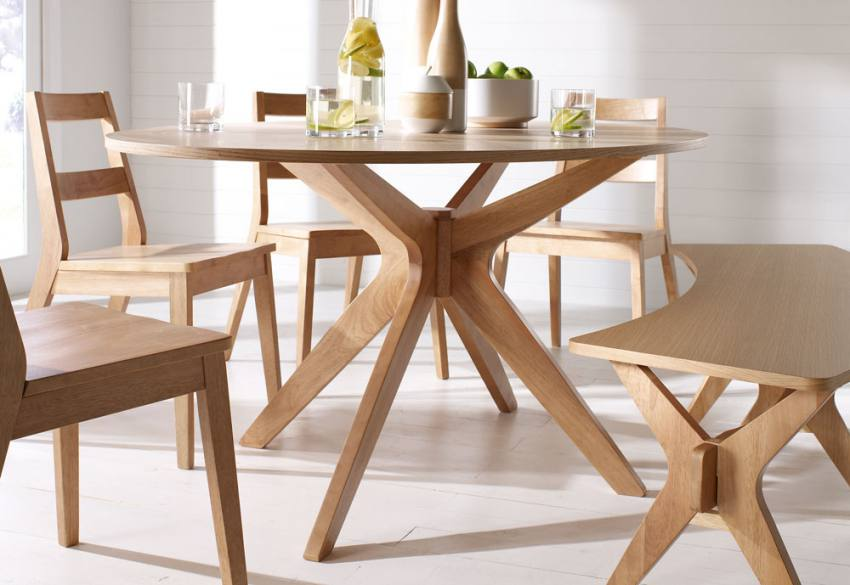 Lpd furniture malmo oak dining collection scandinavian for Styling a dining table