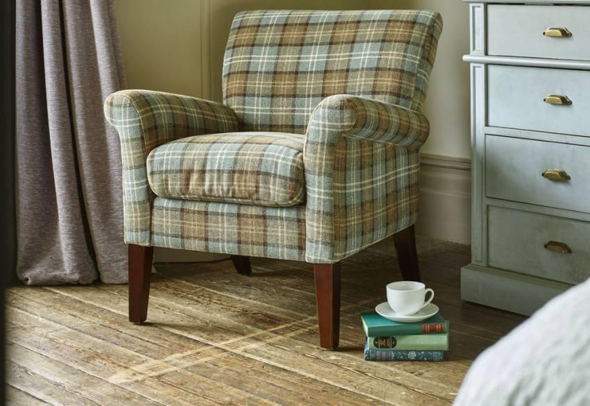 Gfa Blenheim Occasional Chair Dark Wood Tapered Legs