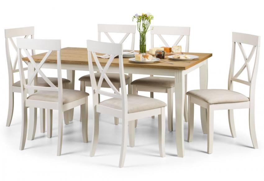 Julian bowen davenport dining sets light oak table top for Light oak dining furniture