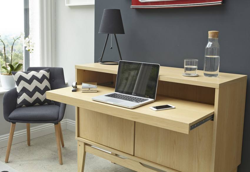 Teknik office contemporary bureau or sideboard reversible