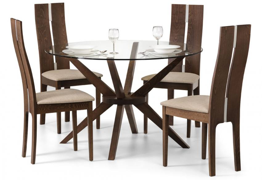 julian bowen chelsea dining table with 4 cayman dining chairs
