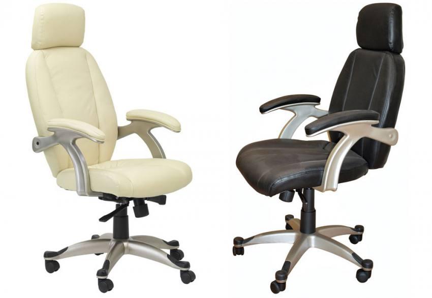 Cream Or Black. Alphason   Bentley Leather Executive Chair ...