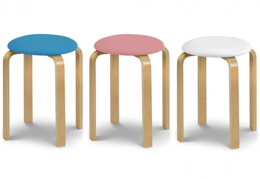 Superb Julian Bowen Dandy Stools Formed Plywood Legs 2 Seat Caraccident5 Cool Chair Designs And Ideas Caraccident5Info