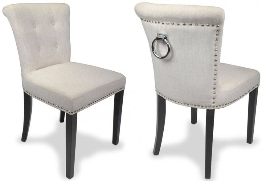 Shankar - Sandringham Linen Fabric Accent Chair  Product Image