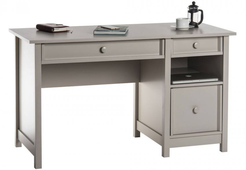 Teknik Office - Computer Desk Cobblestone Grey Product Image