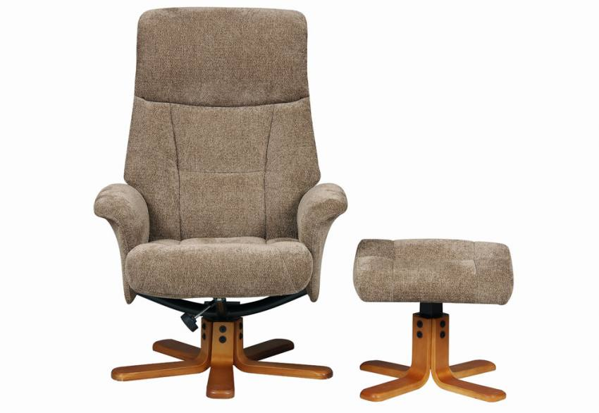 GFA - Marseilles Swivel Recliner Chair & Footstool Product Image