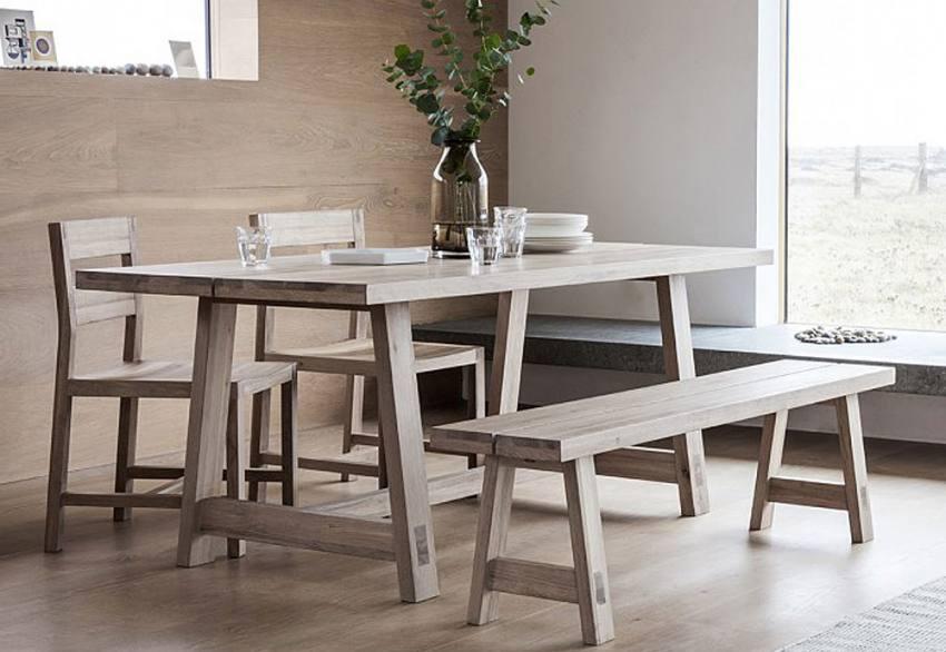 Gallery Direct Kielder Oak Dining Dining Table Chairs