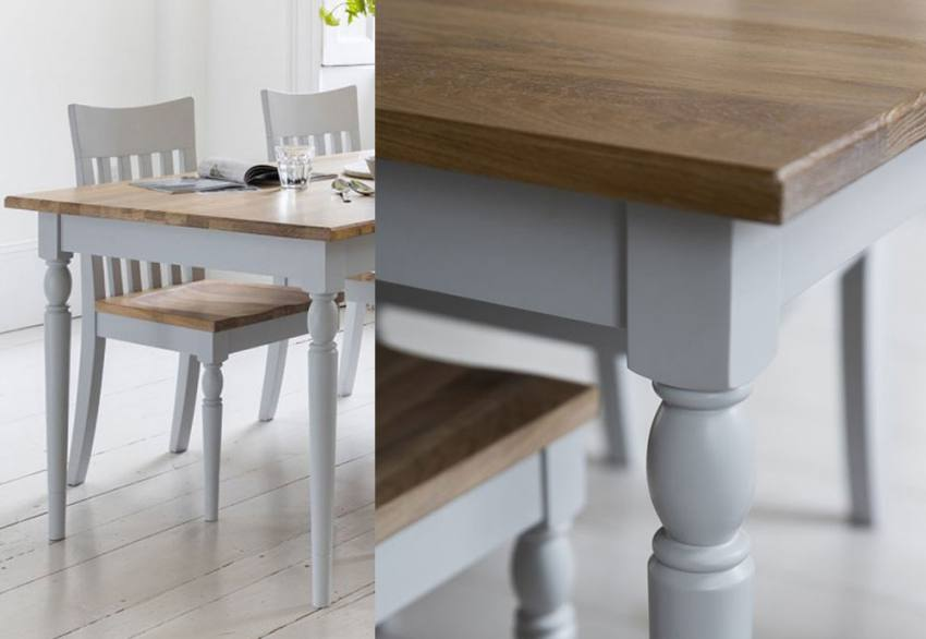 Gallery Direct Marlow Grey Painted Oak Dining Dining