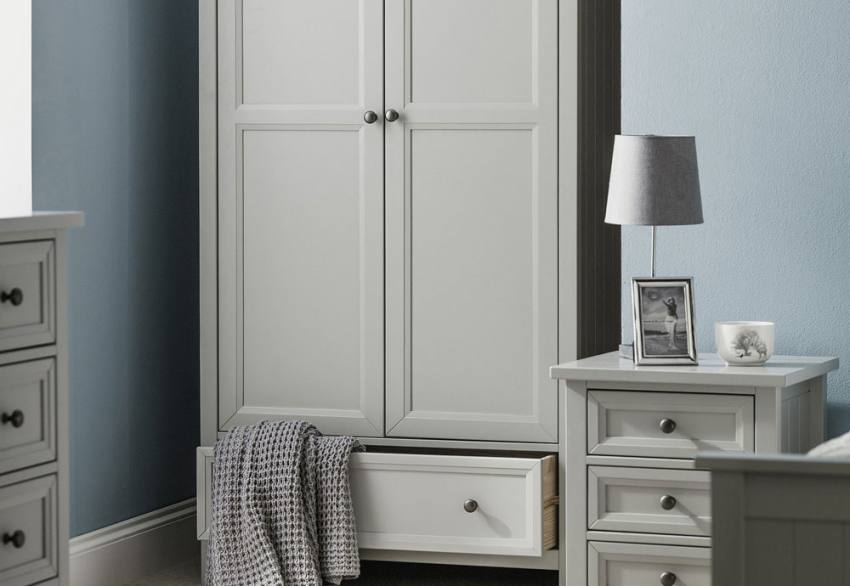 Julian Bowen - Maine Grey Shaker Style Bedroom Product Image