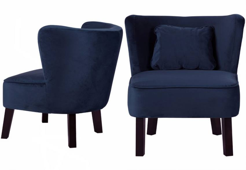 Dark Blue. XYZ   Marle Velvet Occasional Chair ...
