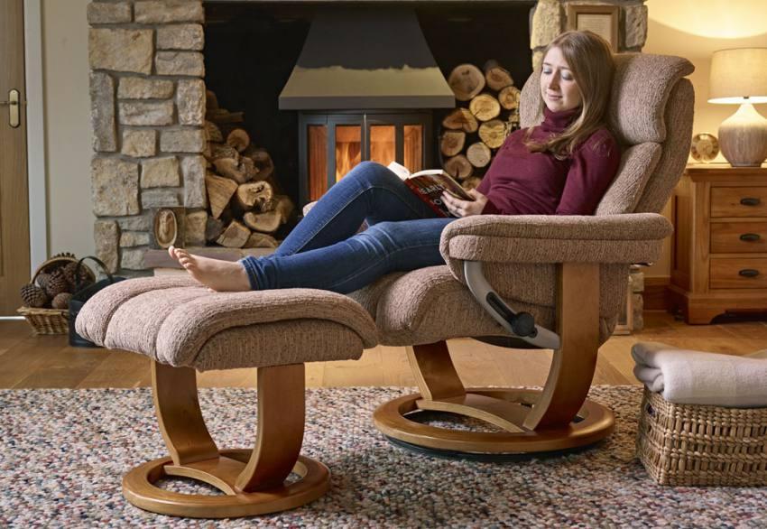 Caramel Textured Fabric. GFA - Portofino Fabric Swivel Recliner ... & GFA - Portofino Fabric Swivel Recliner Chair u0026 Footstool - Fully ... islam-shia.org