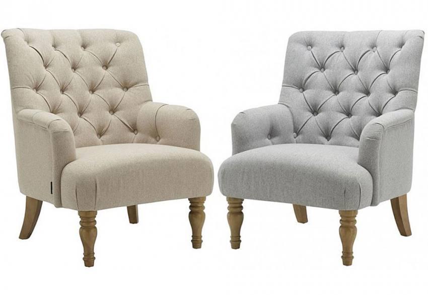 birlea furniture padstow armchair deep buttoned back turned