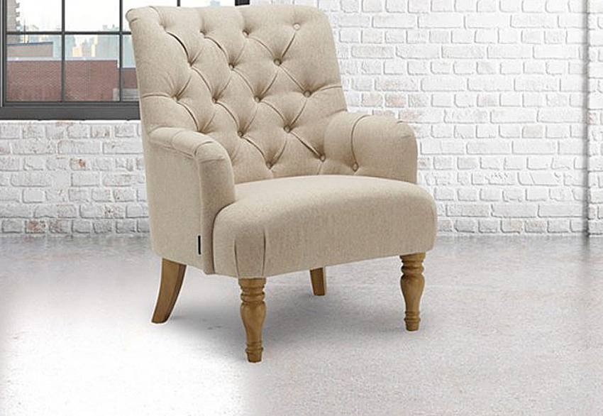 Birlea Furniture Padstow Armchair Deep Buttoned Back