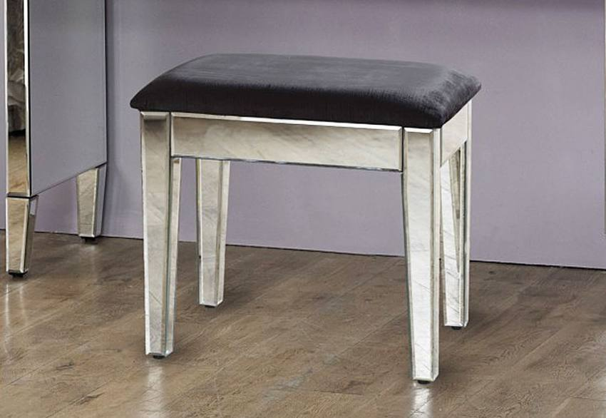 Birlea Furniture - Valencia Mirrored 2 Drawer Sideboard & Dressing Stool Product Image