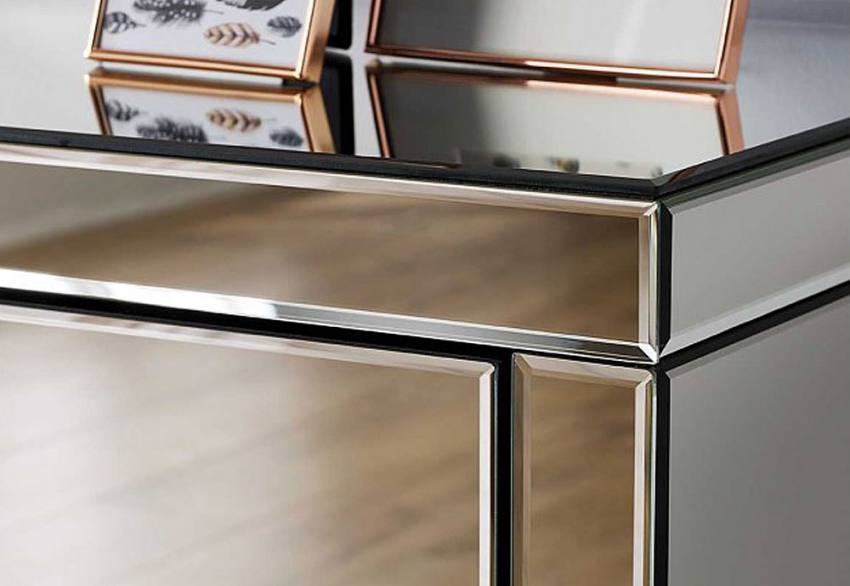 Birlea Furniture Seville Mirrored 3 Drawer Chest