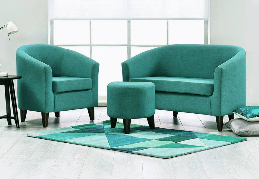 Jay-Be - Curve Tub Chair - 2 Seater Sofa - Footstool - Contemporary ...