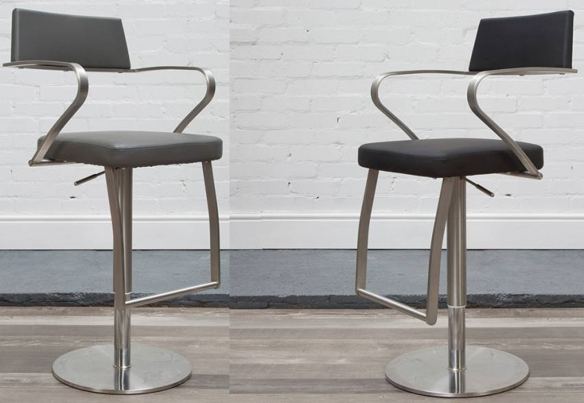 Remarkable Hnd St Moritz Bar Stools Faux Leather Seats Backs With Inzonedesignstudio Interior Chair Design Inzonedesignstudiocom