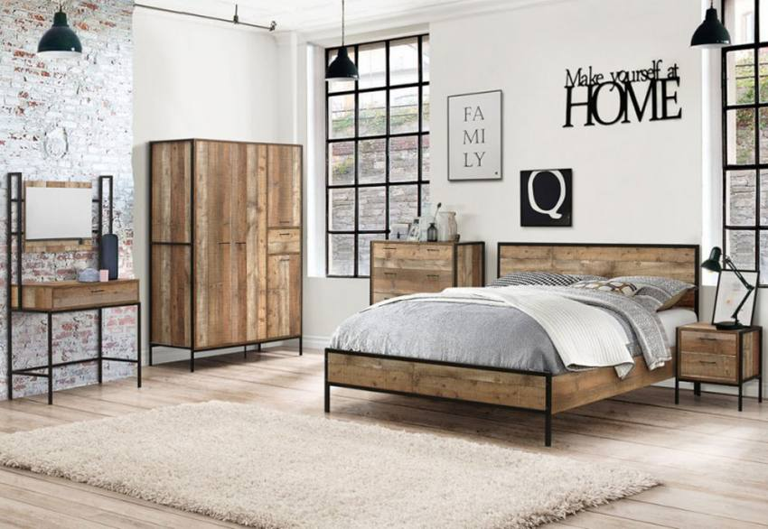Birlea Furniture Urban Bedroom Range Industrial Chic Bedsides Gorgeous Urban Bedroom