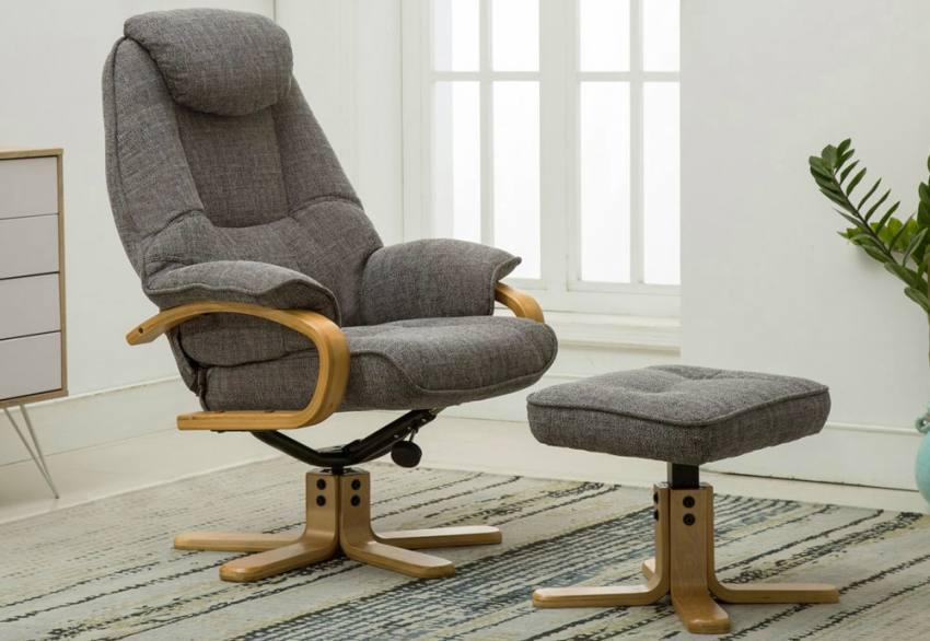 Phenomenal Gfa Pisa Fully Adjustable Fabric Swivel Recliner Chair Creativecarmelina Interior Chair Design Creativecarmelinacom