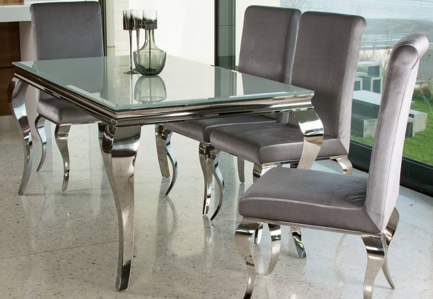 Vida Living - Louis Glass Dining Table & Chair Product Image