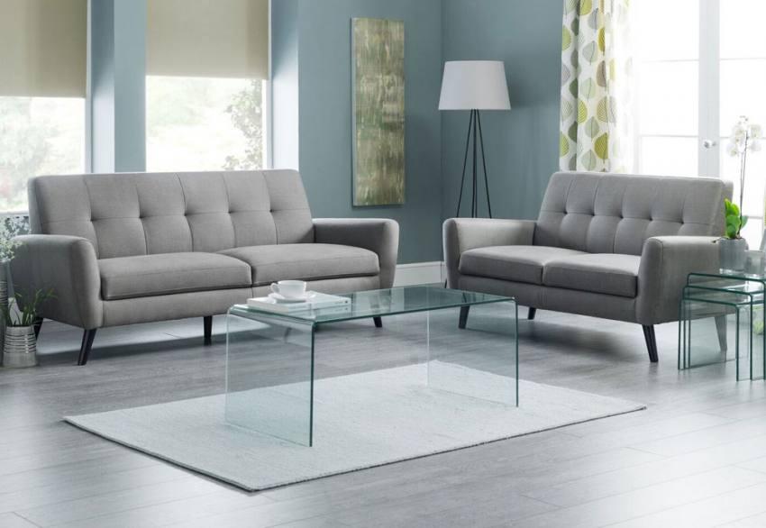 Julian Bowen Monza Chair Amp Sofas Mid Grey Linen Style