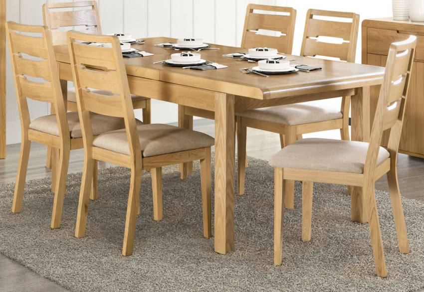Julian Bowen - Curve Oak Dining Product Image